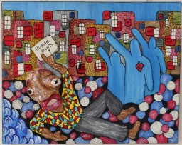 Refugee, 40x50 cm, 2019, technique mixte