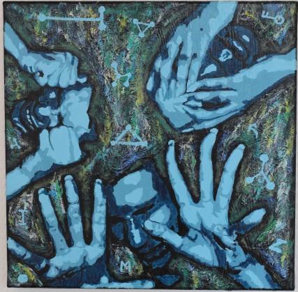 Humeurs II, 50x50 cm, 2019, acrylique