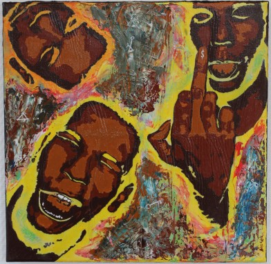 Humeurs I, 50x50 cm, 2019, acrylique