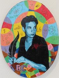 L'écrivain, 40x30 cm, 2019, acrylique